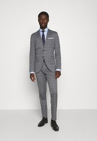 Selected Homme - SLHSLIM-NAS GREY CHECK SUIT - Oblek - grey/blue/white - 1