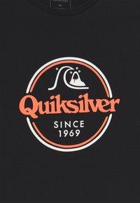 Quiksilver - WORDS REMAIN - Printtipaita - black - 3