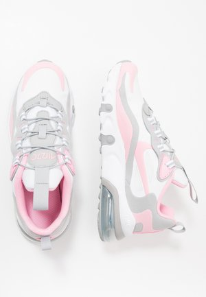 NIKE AIR MAX 270 RT BP - Sneakers basse - white/pink/light smoke grey/metallic silver