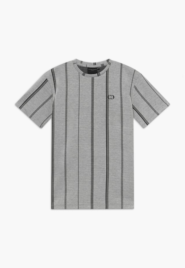 TEE - Print T-shirt - grey/black