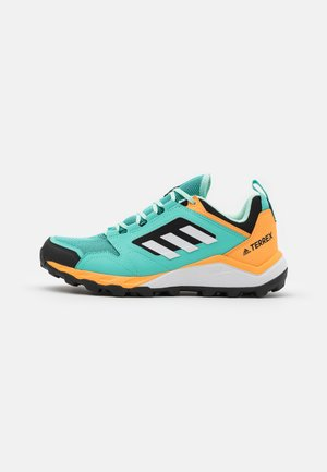 TERREX AGRAVIC TR - Hiking shoes - acid mint/footwear white/hazy orange