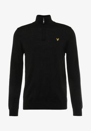 GOLF QUARTER - Stickad tröja - true black