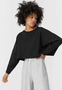 Stradivarius - Long sleeved top - black - 0
