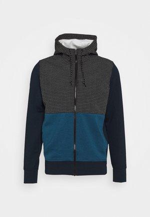 COLORBLOCK MANCHEGO - Zip-up hoodie - navy
