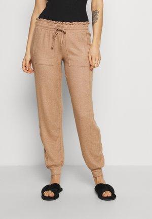 COSY CUFF PANT - Pyjama bottoms - camel