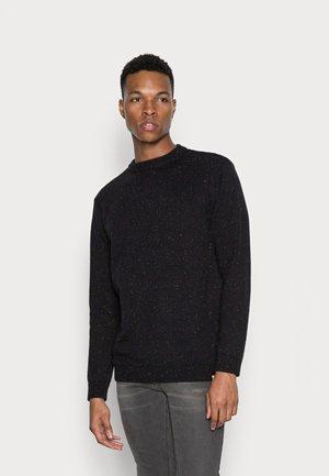 BENNER - Stickad tröja - black/grey melange