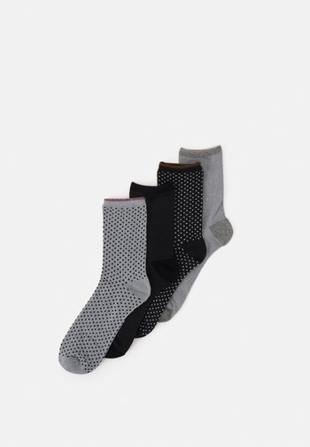 SOCK 4 PACK - Socks - grey/lightgrey/black