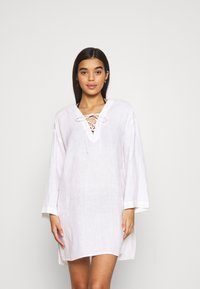 Seafolly - BEACH EDIT HARBOUR COVER UP - Beach accessory - white - 0
