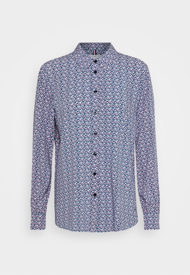 POPLIN REGULAR BLOUSE - Blouse - blue