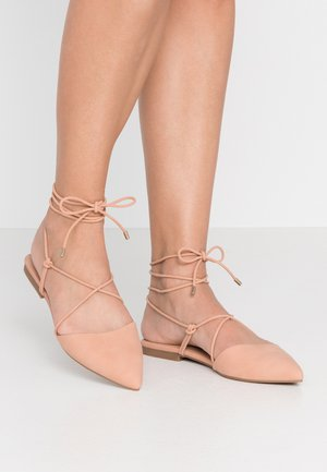 JENNI - Ankle strap ballet pumps - light pink