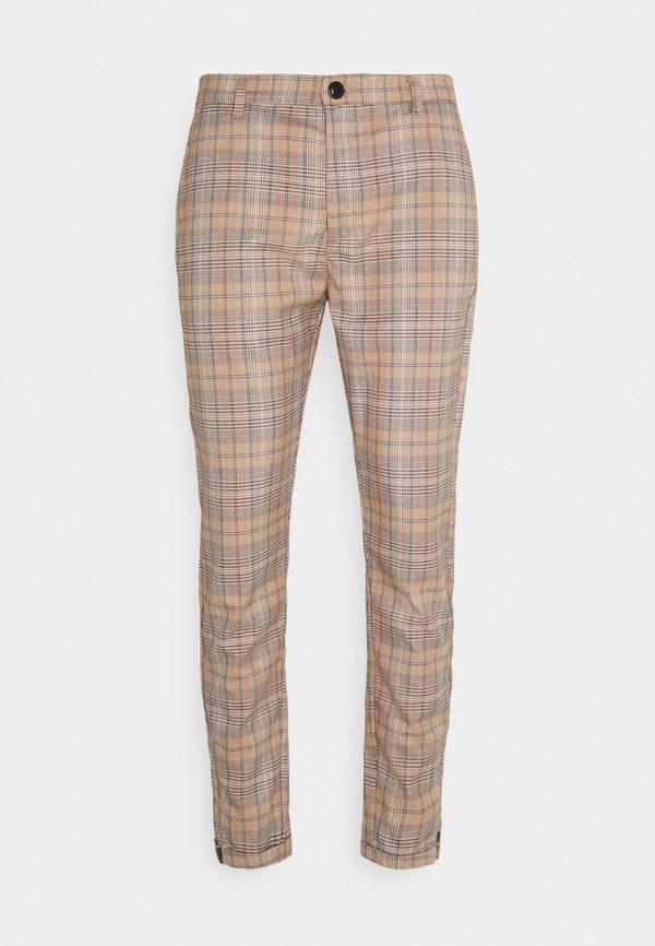 Gabba PISA KUZEY CHECK PANT - Chinosy - brown/jasnobrązowy Odzież Męska JLKB