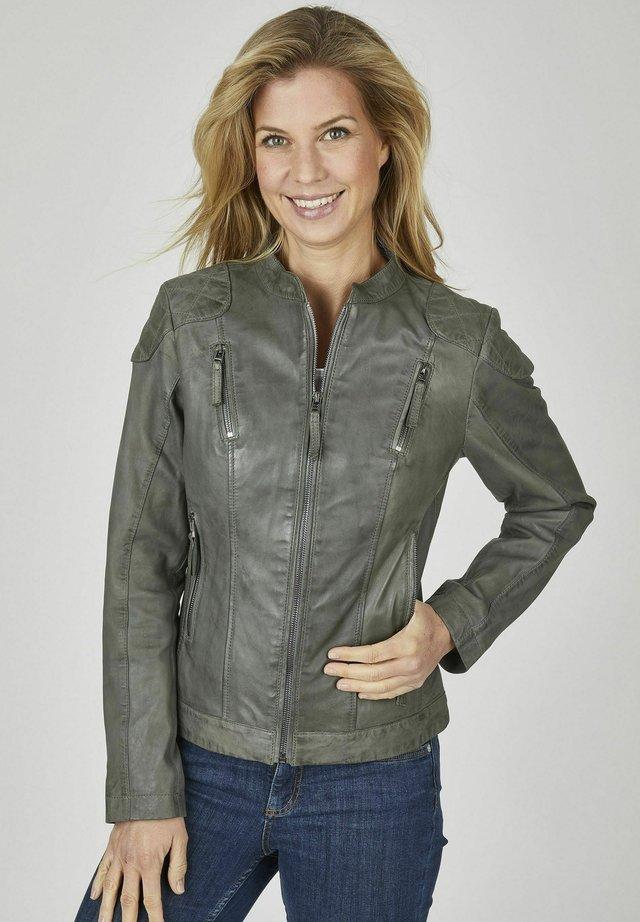 Leather jacket - grau