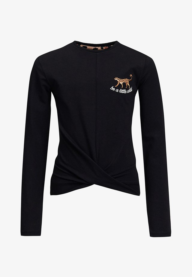 MET OVERSLAGDETAIL - Long sleeved top - black