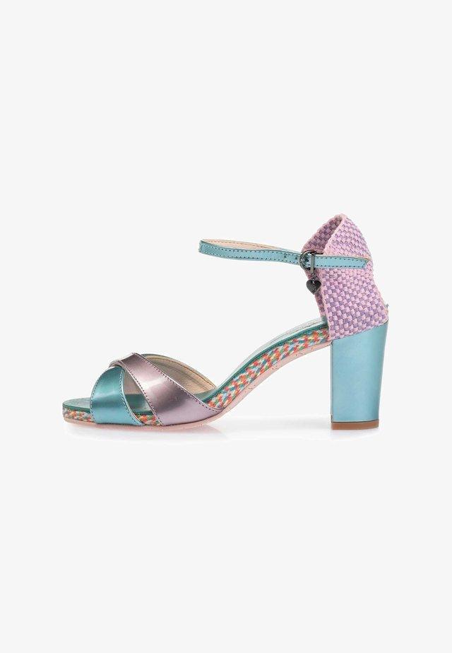 Sandalen met hoge hak - lightblue