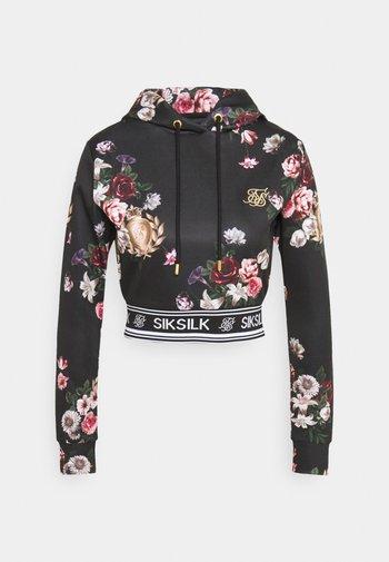PRESTIGE FLORAL TRACK - Sweatshirt - black