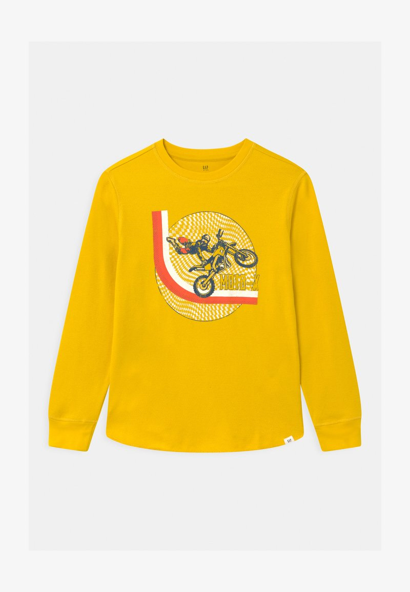 GAP - BOY THERMAL GRAPHIC - Long sleeved top - bold yellow