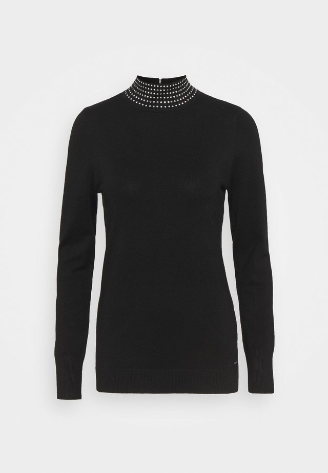 NAILHEAD TURTLENECK  - Sweter - black
