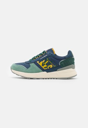 SPARROW - Matalavartiset tennarit - navy/yellow