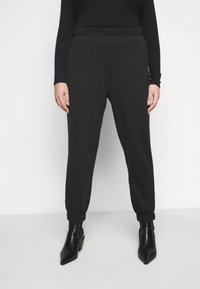 Cotton On Curve - HIGH RISE TRACKPANT - Tracksuit bottoms - washed black - 1