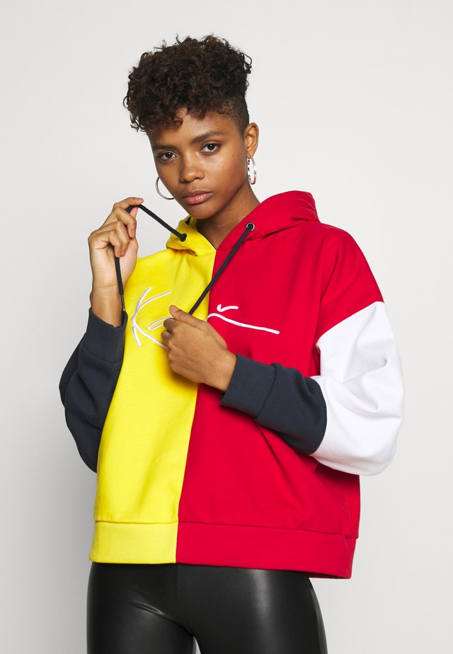 SIGNATURE TAPE BLOCK HOODIE - Hoodie - yellow/red/navy/white