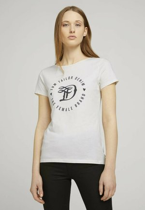 MIT PRINT - T-shirt print - gardenia white