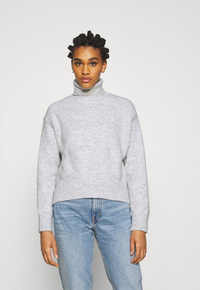 Pullover - mottled light grey