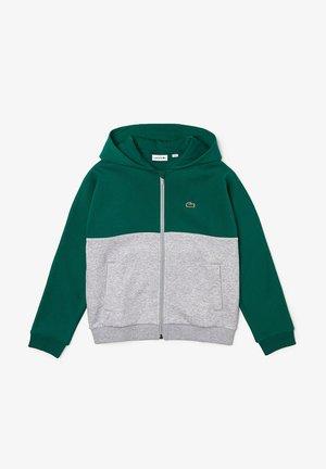 Zip-up sweatshirt - vert / gris chine