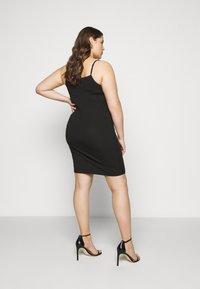 Zizzi - STRAP LONG - Pouzdrové šaty - black - 2