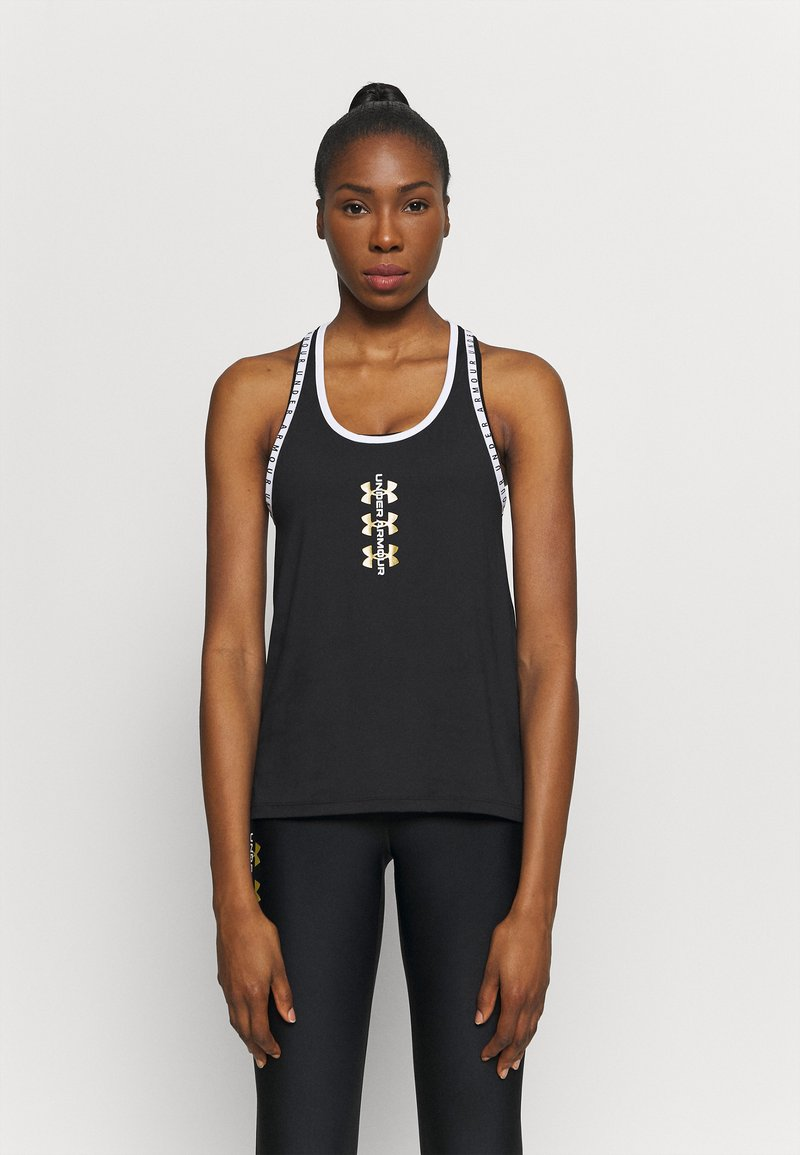 Under Armour - KNOCKOUT TANK - Funktionsshirt - black