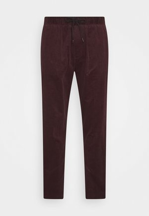 FAVE SOFT PANT WITH ELASTICATED WAISTBAND - Trousers - fire brick