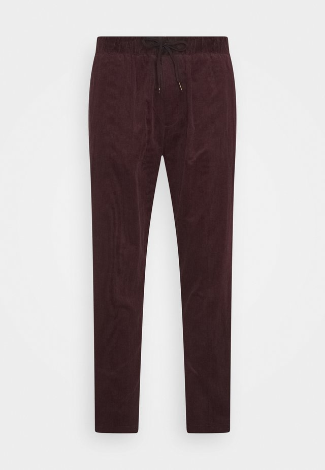 FAVE SOFT PANT WITH ELASTICATED WAISTBAND - Pantalones - fire brick