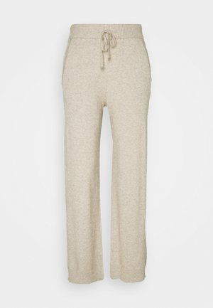 VIRIL STRAIGHT PANTS - Tygbyxor - natural melange
