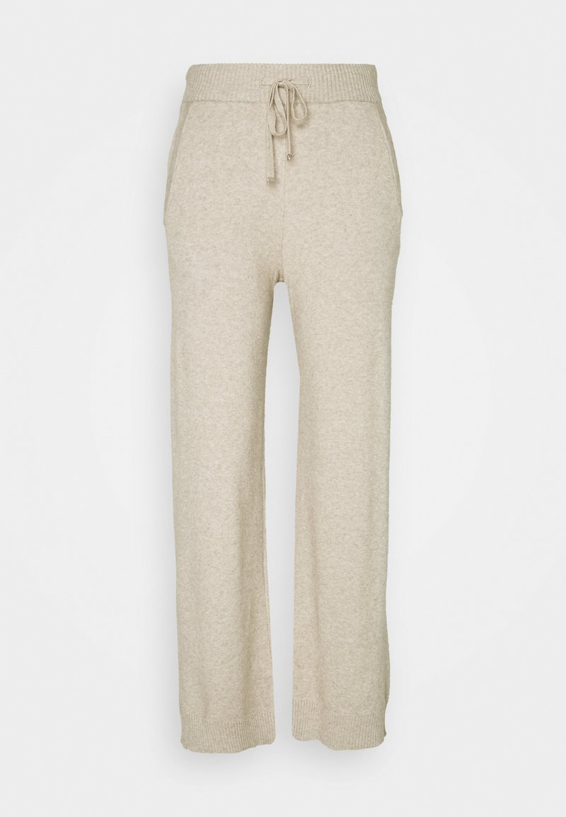 VILA PETITE - VIRIL STRAIGHT PANTS - Bukse - natural melange