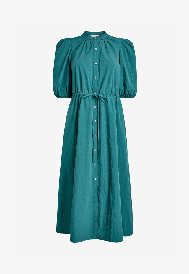 Košilové šaty - teal