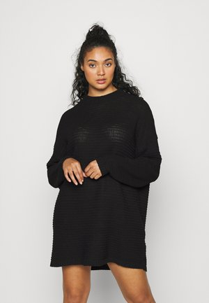 HIGH NECK DRESS - Jumper dress - black