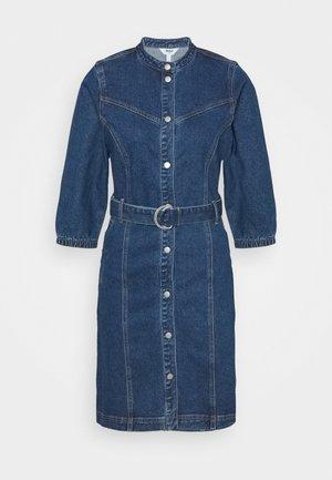 OBJMALOU DRESS  - Denim dress - dark blue