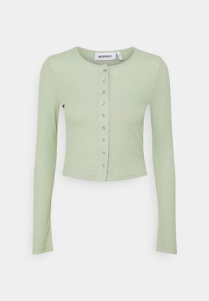 MINERVA LONG SLEEVE - Neuletakki - light pistachio