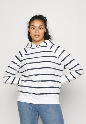 STRIPE HOODIE - Sweatshirt - ivory/navy