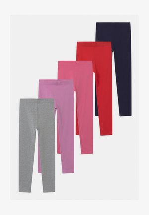 5 PACK - Leggingsit - pink/light pink/red