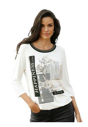 Print T-shirt - off white,schwarz