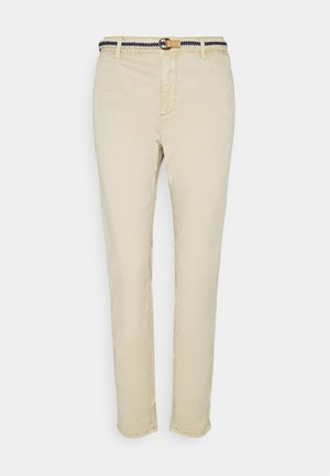 SLIM - Trousers - cream beige