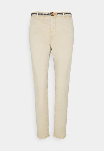 SLIM - Trousers - cream beige
