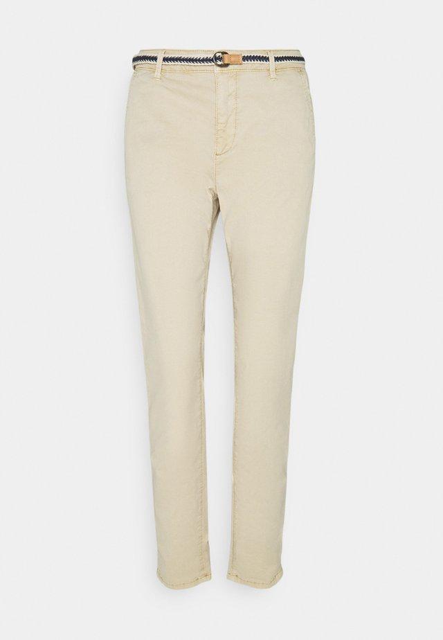 SLIM - Broek - cream beige