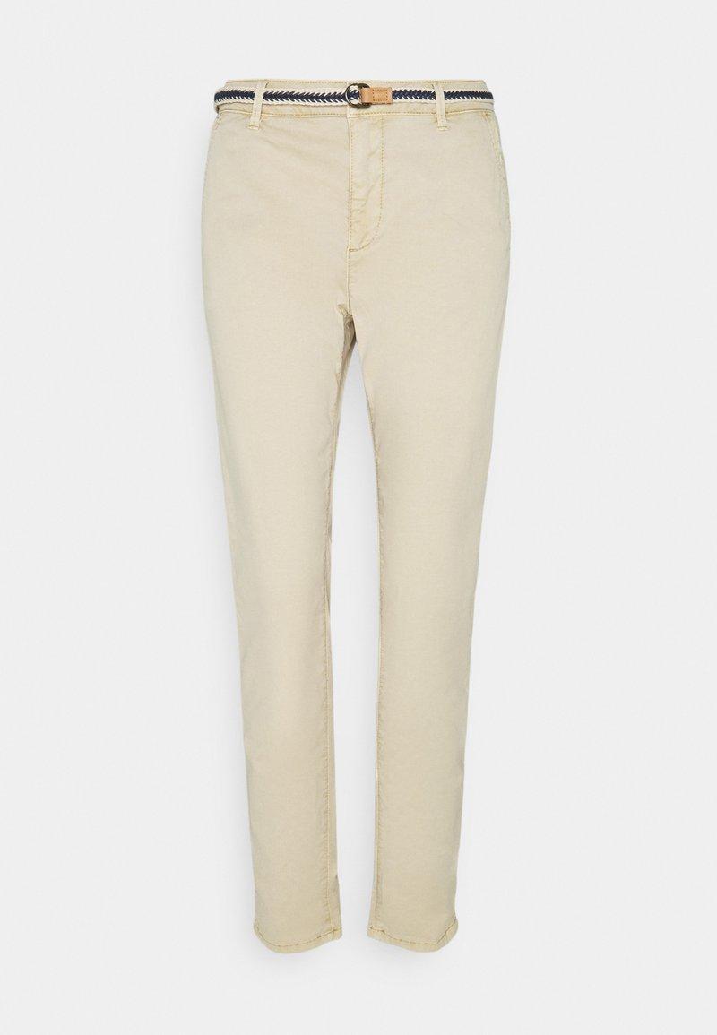 Esprit - SLIM - Trousers - cream beige