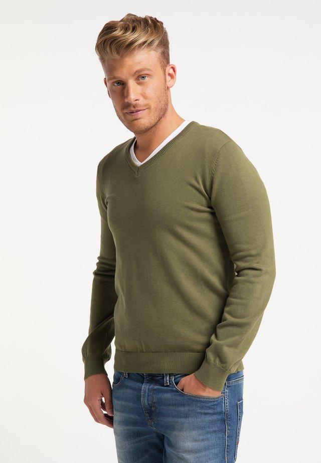Pullover - militär grün