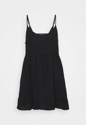 LUCY STRAPPY TIERD - Denní šaty - black