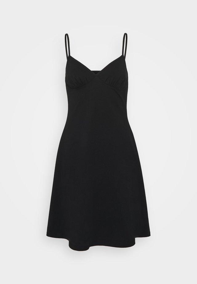 ONLMAIKA STRAP NIGHTWEAR DRESS - Koszula nocna - black