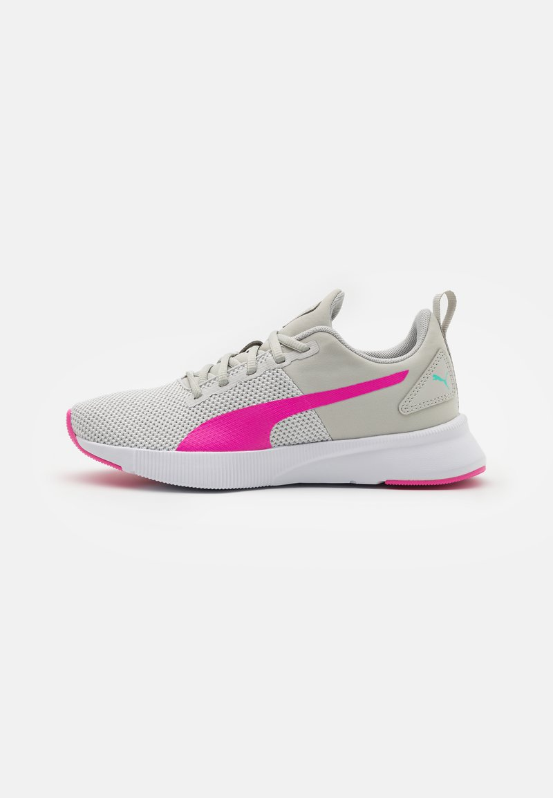 Puma - FLYER RUNNER UNISEX - Sports shoes - gray violet/luminous pink