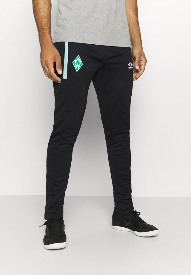 WERDER BREMEN TAPERED PANT - Klubbklær - black/ice green
