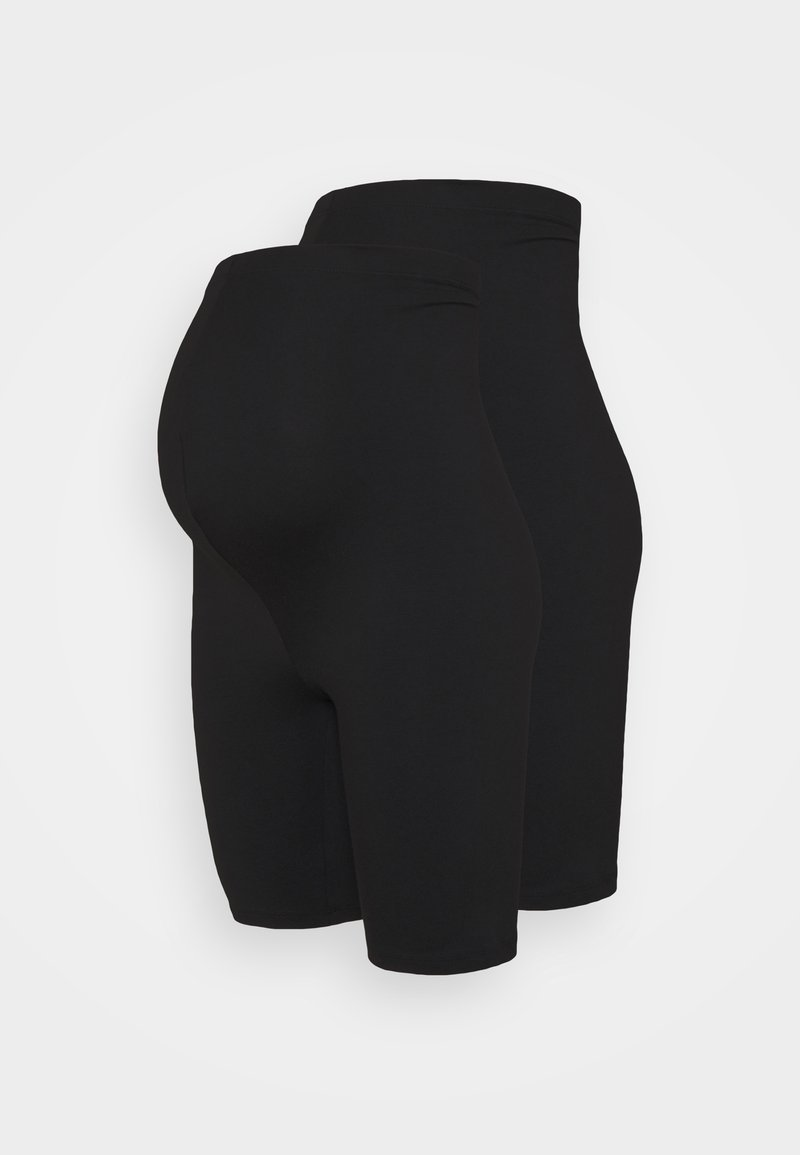 Missguided Maternity - 2 PACK  - Shorts - black
